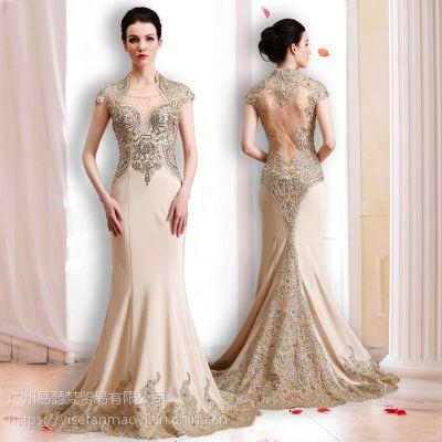 广州易瑟梵时尚高端夺目的女装晚礼服批发工厂厂家