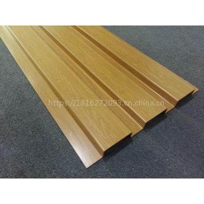 厂家供应木纹色长城铝单板,背景墙用铝质长城板