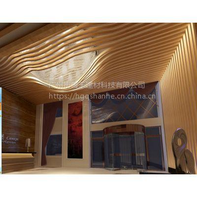 铝幕墙天花吊顶装饰 铝方通 铝方管 铝天花定制