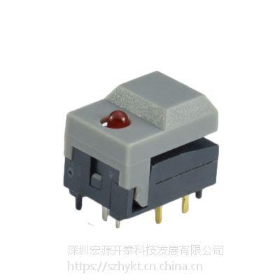供应 带LED单灯 宽盖按键开关