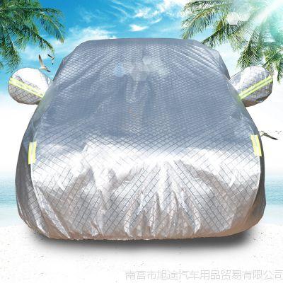 标致308汽车加厚铝膜车衣标志408/3008夏季防晒遮阳罩 工厂直销