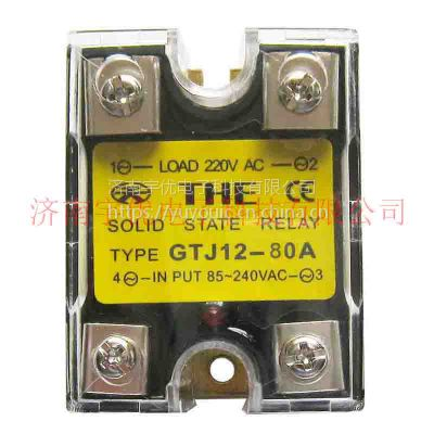 THE无锡天豪GTJ12-80A 安装式交流控制交流固态继电器 原装正品