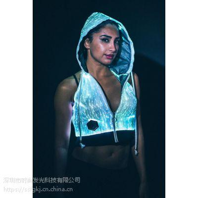 led灯发光表演服 夜场酒吧舞蹈演出服荧光晚礼服 厂家直销