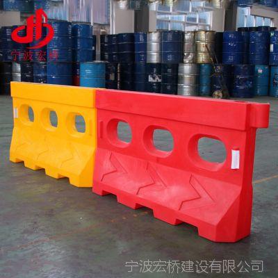 厂家供应 5.5KG重滚塑三孔水马 高速公路修路专用款水马 防撞设施