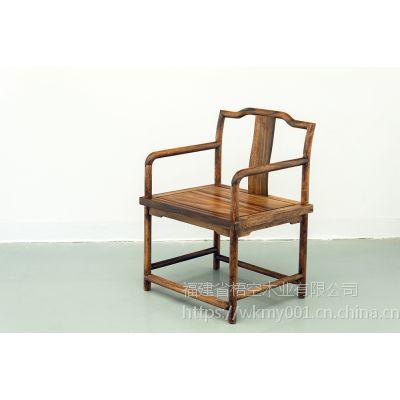 梧空木业南美胡桃木新中式客椅休闲椅