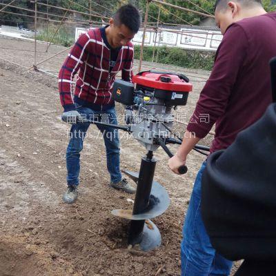 富兴螺旋式植树挖坑机 家用大马力栽树打坑机 大直径刨坑机厂家