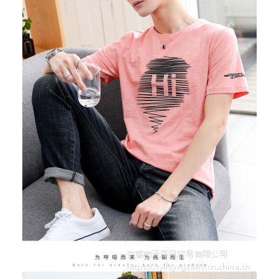 东莞哪里有适合摆地摊进货的服装批发市场 几元纯棉男士印花T恤衫批发厂家直销