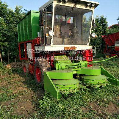 牧草收割机青储厂家 自走式玉米秸秆青储机 黑麦草收割机价格