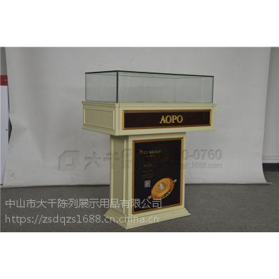 木质中岛柜定做 高端饰品中岛展示柜 led照明中岛柜供应
