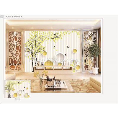 【个性墙纸壁画加工|壁画生产厂家|高档进口无缝发财树壁画】