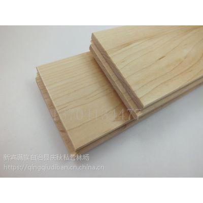 庆秋地板厂家直销优质枫木实木运动地板