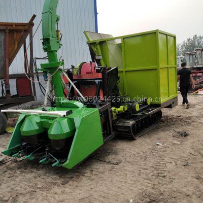大型自走式粉碎收割机 履带式玉米秸秆青储机 青饲料收集机