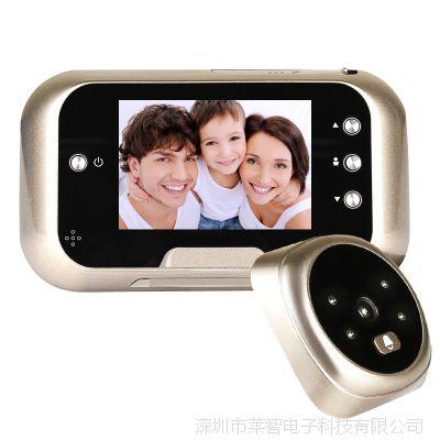 新款可视猫眼门铃家用高清电子监控摄像头智能夜视电子猫眼门铃