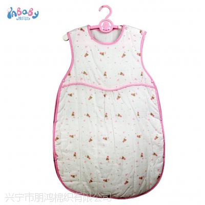 品牌宝宝睡袋厂家,新款纯棉开肩纱布睡袋 婴幼儿夹棉背心宝宝睡袋 新生儿保暖防踢被