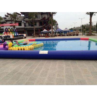 现货供应充气游泳池 PVC高温热合制作儿童游泳池 夏日彩色水池充气水池