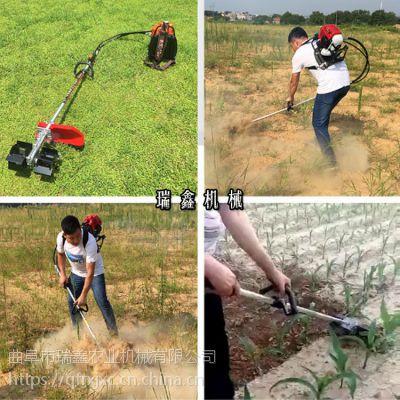 小型割草机视频 热销大棚除草翻地机 轻便背负式除草松土机