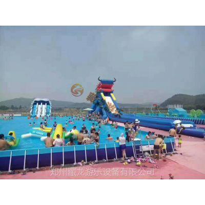 大型支架游泳池 拆装式水上游乐园 成人儿童游乐水上乐园设施厂家直销