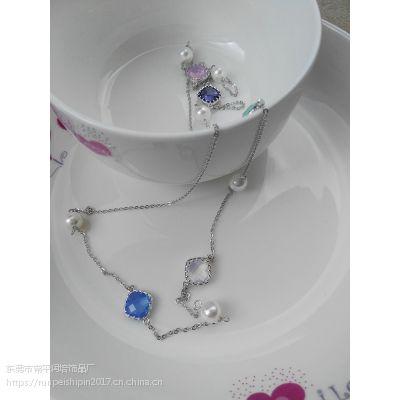 润培 中长款女式珍珠项链 毛衣百搭装饰 饰品工厂推荐