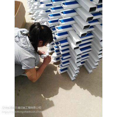 深圳鸿粤PVC花草实用安全防护栏/现货PVC围挡/市政园林花草隔离栏