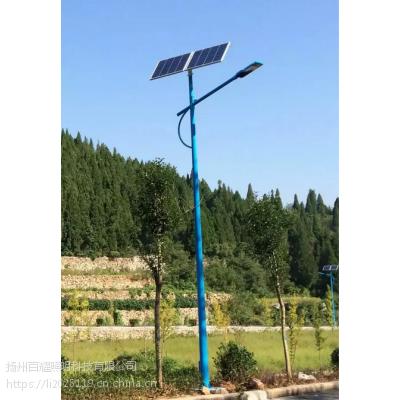 河南安阳市可定制LED太阳能路 IP65 热镀锌灯杆工程案例
