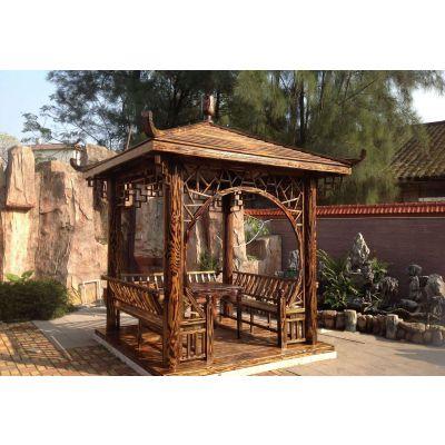 新疆户外木结构景观厂家 定做廊架 长廊 栈道 木屋 凉亭