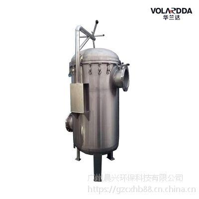 广州晨兴厂家直销深圳工业区用水 除杂质加压袋式过滤器可非标定制
