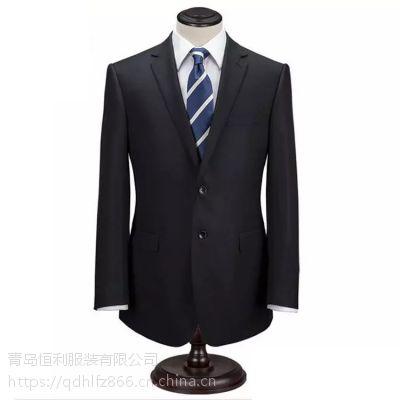 青岛男士商务正装休闲西装修身礼服职业装西服套装厂家量身定制