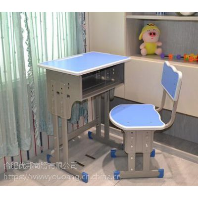 合肥双人课桌椅合肥单人课桌椅合肥蓝色包边课桌椅合肥稳固学生课桌椅供应
