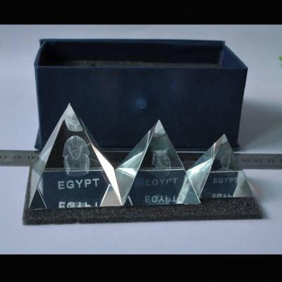 苏州水晶奖杯制作,水晶金字塔纪念品,年度先进个人奖牌, 金字塔水晶礼品