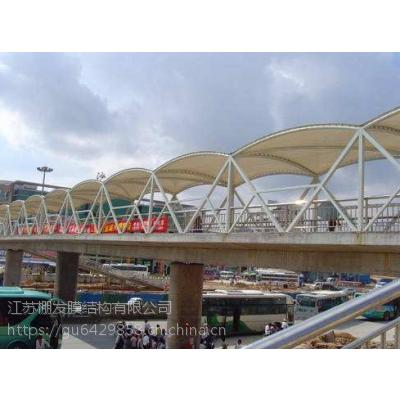 PVDF走廊通道景观膜结构公交站台候车亭膜结构商场入口张拉膜