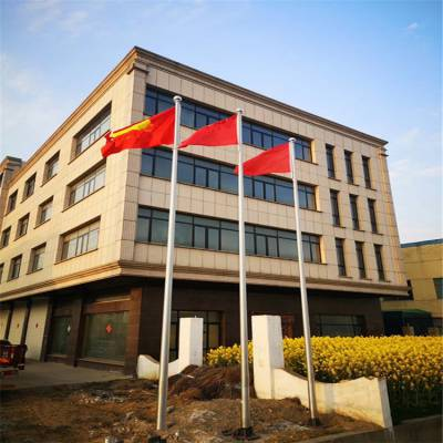 泰州耀恒 生产国旗杆厂家 泰州不锈钢旗杆锥形内置手动