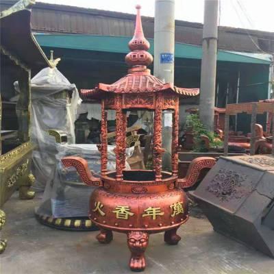 定做圆形香炉厂家,正圆工艺铸铁寺庙圆形香炉生产厂家