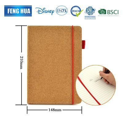 A5笔记本 水松木笔记本带红色书签 商务会议专用可赠送记事本礼品