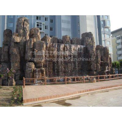 现场制作水泥假山 大型景观GRC水泥雕塑 承接大型仿真树木雕塑