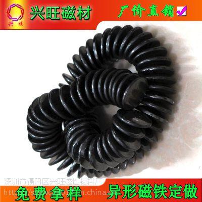 厂家长期供应高性能磁床垫面包磁12*3 保健面包磁 医疗保健磁 铁氧体永磁