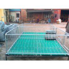 铸铁复合保育床双面食槽双体栏