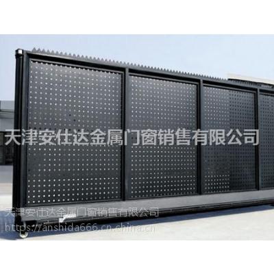 天津西青区定制铁艺平移门,厂家安装别墅铁艺大门