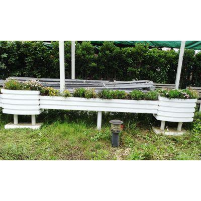 户外pvc花箱花槽花园市政马路隔离发泡马槽塑木护栏