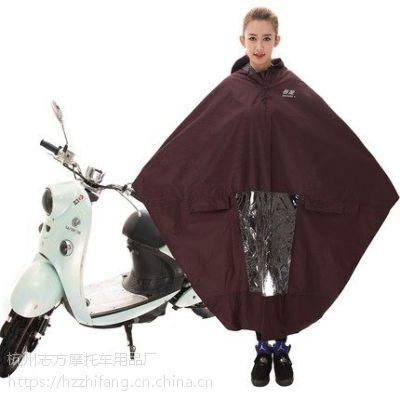 包邮暴龙单双人加厚加大电动车雨披摩托车防水劳工布雨衣特大防飘