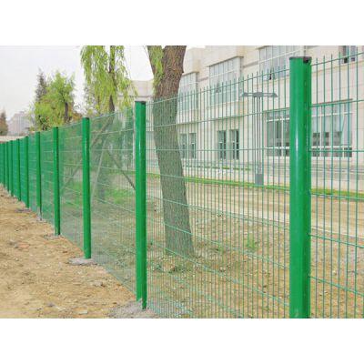 朋英 桃形柱喷塑护栏网 铁丝焊接小区围网 厂家直销
