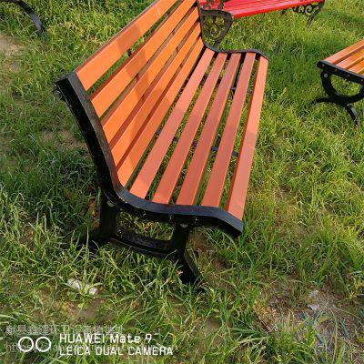 厂家生产铸铁实木公园椅 防腐蚀塑木座椅 公园椅 批发