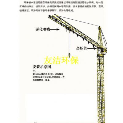 塔吊喷淋降尘系统&工地高塔喷淋多少钱_(友洁)