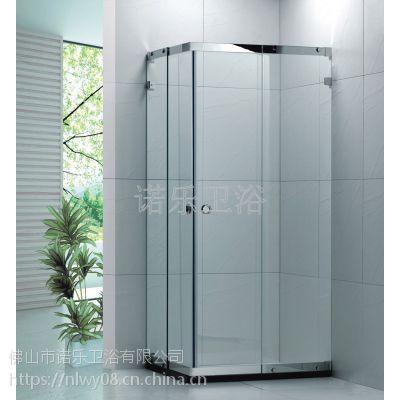 304不锈多大吊轮淋浴房 钢化玻璃移门式淋浴房 佛山淋浴房直销