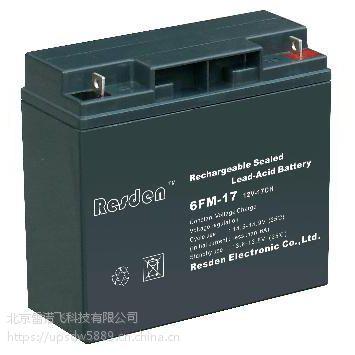 Resden雷斯顿蓄电池6FM-17采购 安装