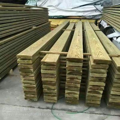 美国南方松防腐木地板料 南方松户外木结构木屋古建工程