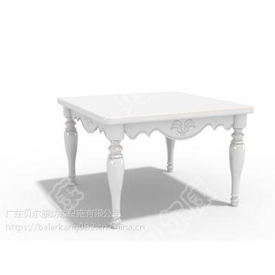 贝尔康 新款欧式 方桌 木桌 幼儿学习桌