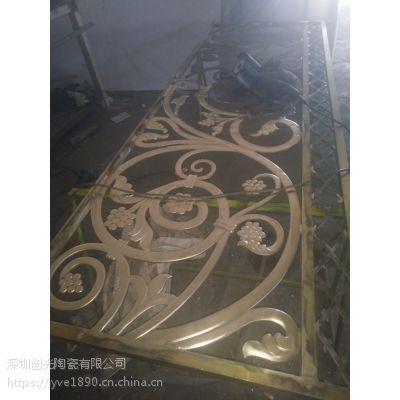 东莞金属工艺品加工铜屏风水切割加工