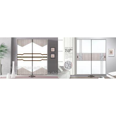 【墨高门窗】衣柜移门展会新产品复古浮雕推拉门佛山厂家生产