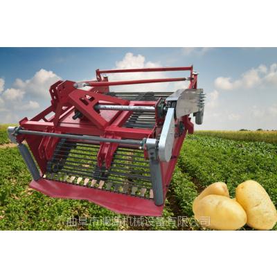 半自动不破皮洋芋收获机 单垄单行柴油机土豆收获机