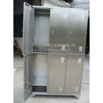 供应奥瑞斯304不锈钢储物柜/无尘车间6门更衣柜/洁净室24门不锈钢鞋柜定做